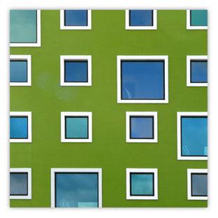 StadtSichten Kopenhagen: Bild Grüne Fenster 001