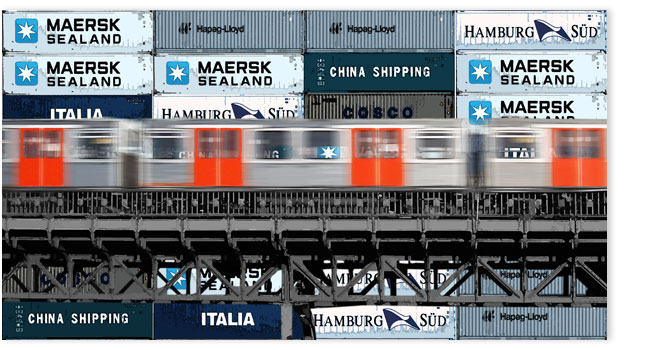 Hamburgensie 058a Container blau