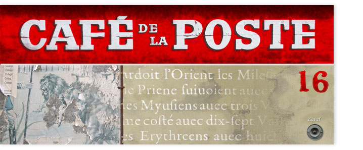 Collage: Cafe de la Poste, Genf