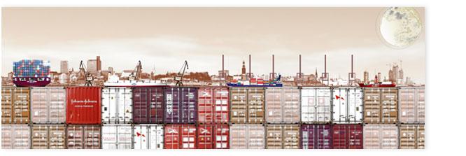 Hamburgensie 102b, Containerhafen