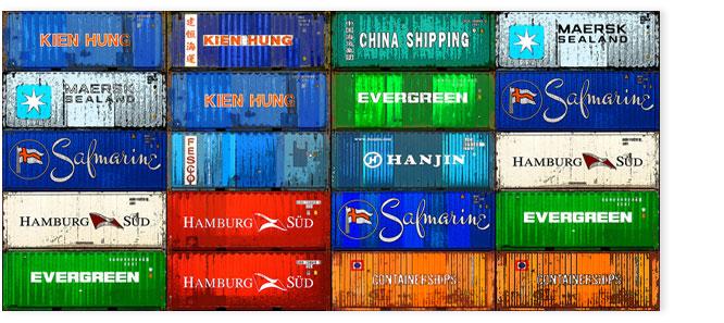Hamburgensie 078 Container bunt