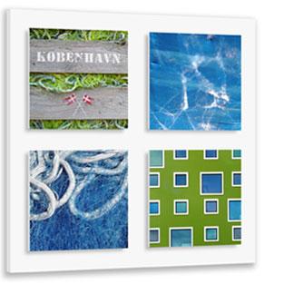 StadtSichten Kopenhagen mit Grundplatte für 4 Magnetbilder