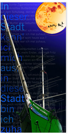 Hamburgensie 096c blau Segelschiff Rickmer Rickmers