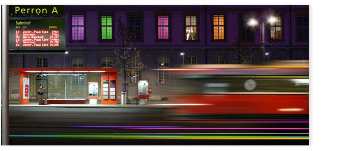 Bern: Bushaltestelle vor dem Hauptbahnhof.