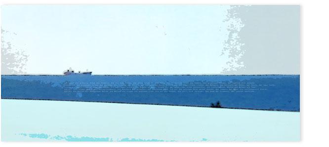 Ostsee 005, mit Containerschiff am Horizont