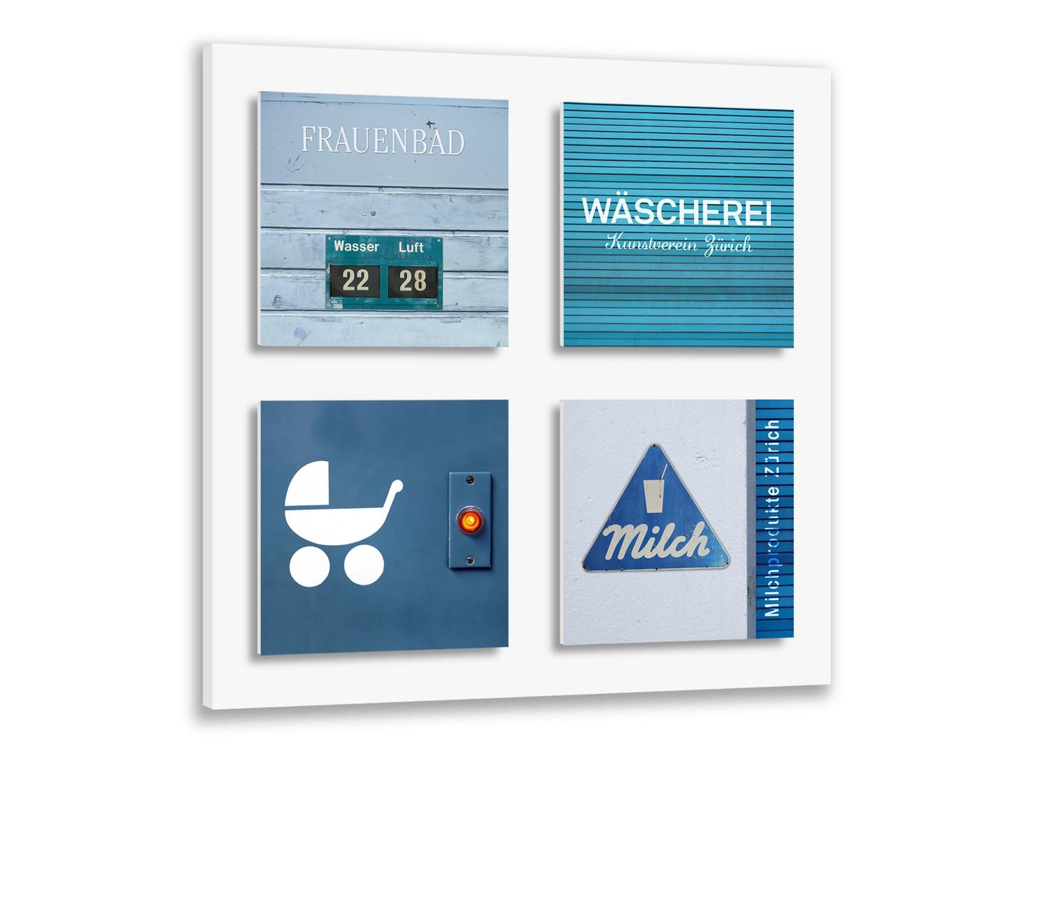 Grundplatte mit 4 Magnetbildern