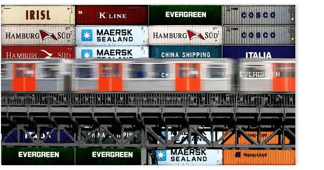 Hamburgensie 058b Container bunt
