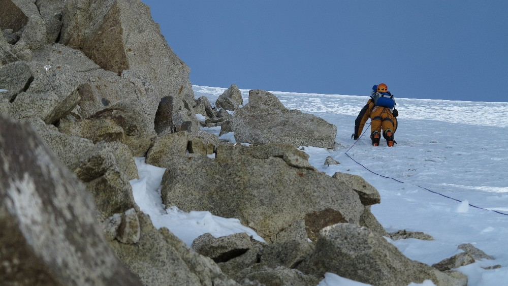 Ralf im Abstieg zur Cassin Ridge