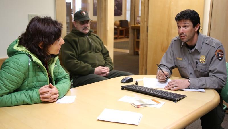 Im Gespräch bei den Denali Park Rangern