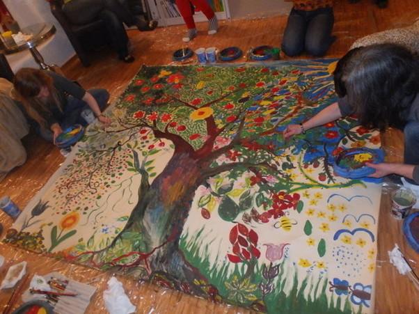 Der Gruppenbaum im Entstehen