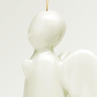 Engel, weiß, hängend, Detail