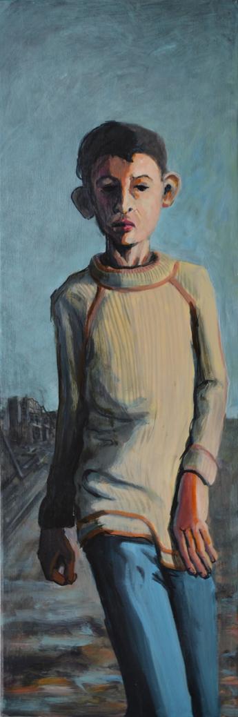 Boy, 120 x 40 cm, Acrylic on canvas, 2016
