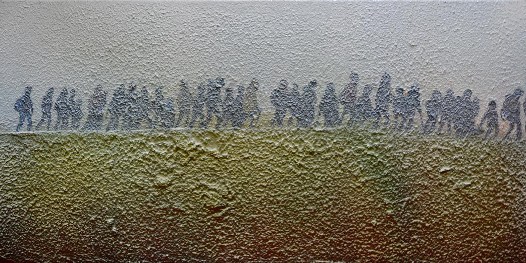 Migration, 80 x 40 cm, Mixed media, 2017