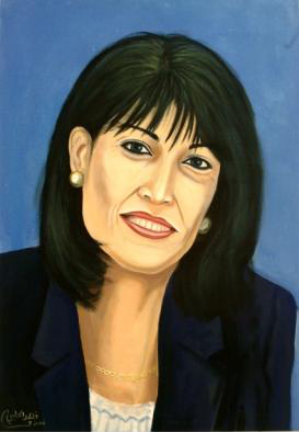 Esterina Tartman, Acrylic on canvas, 70 x 100 cm, 2006