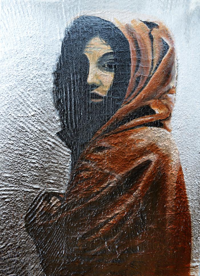 Girl, 50 x 70 cm, Mixed media, 2017
