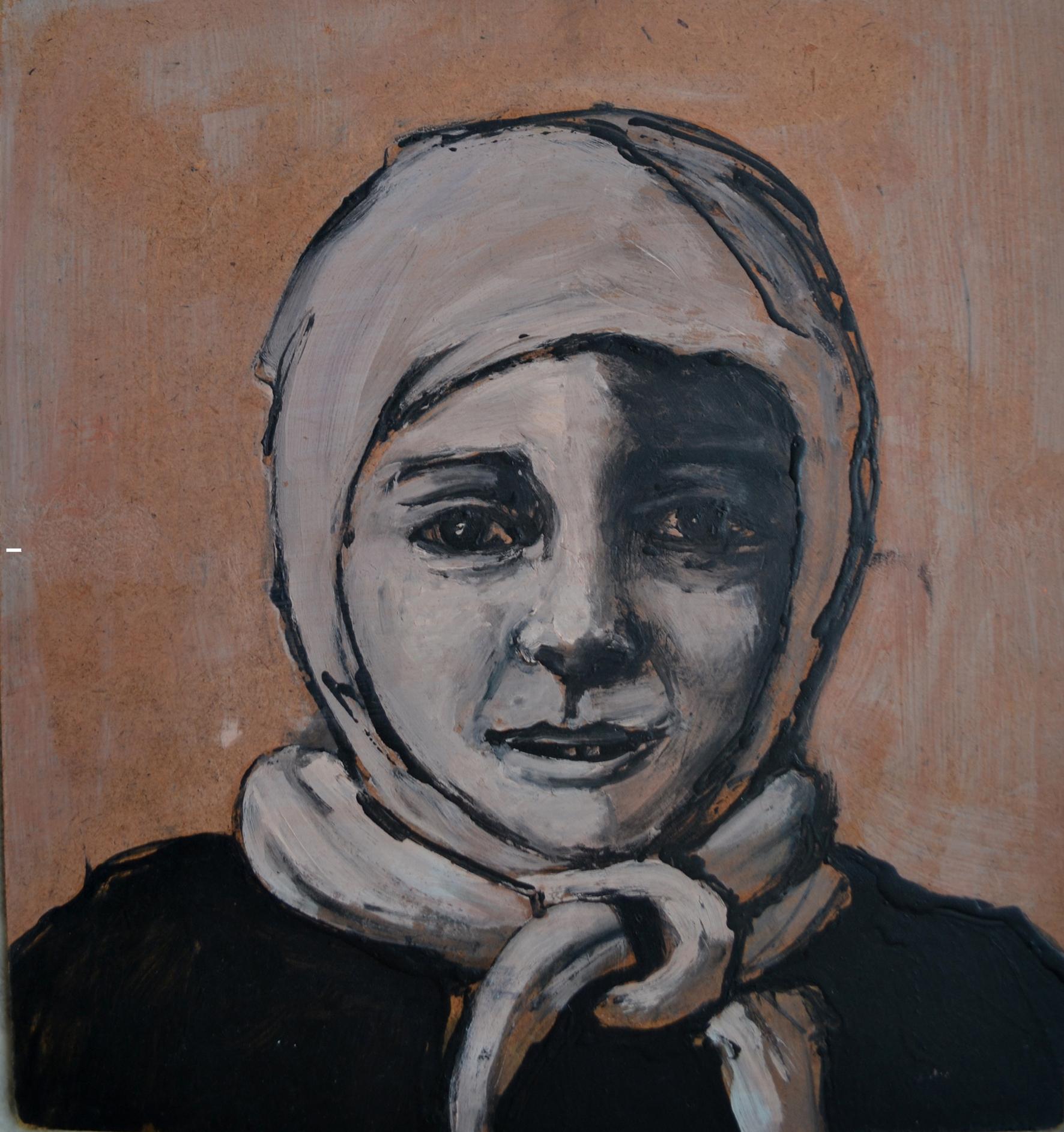 Haneen, 31 x 29 cm, Acrylic on wood, 2014