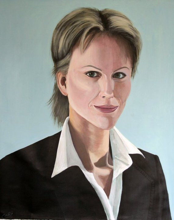 Anastasia Michaeli, Acrylic on canvas, 80 x 110 cm, 2010