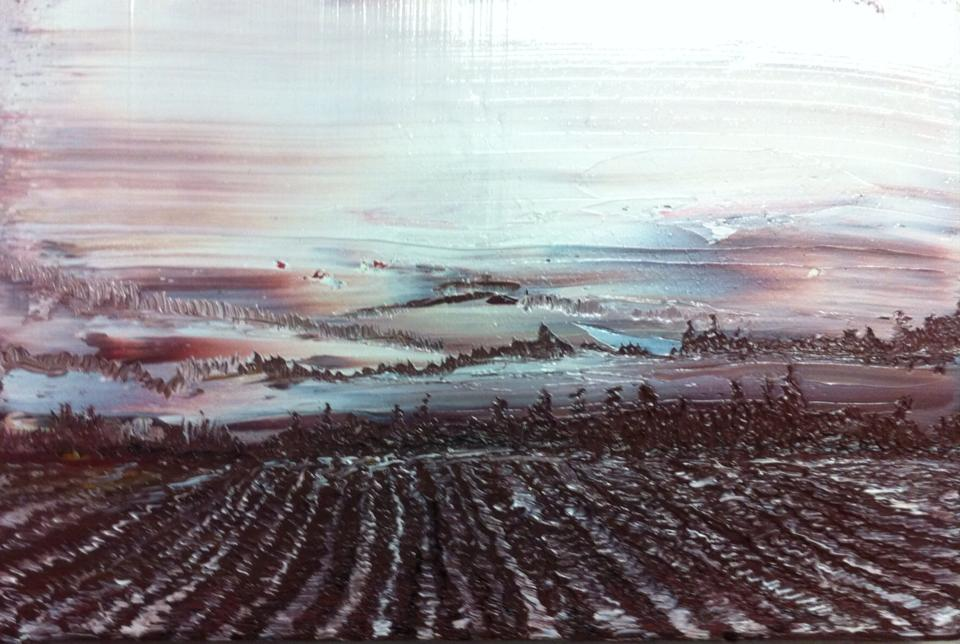 Northern Landscape, Oil on canvas, 30 x 20, 2015