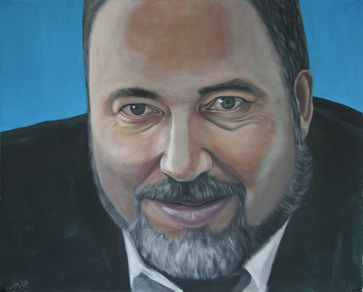 Avigdor Lieberman, Acrylic on canvas, 80 x 110 cm, 2010