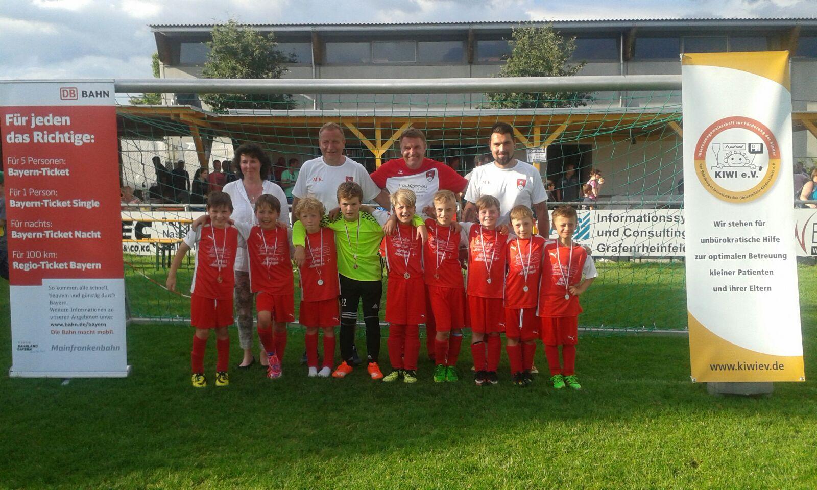 04.06.2016 U9 Kiwi - Cup 2016 3.Platz in Bergrheinfeld