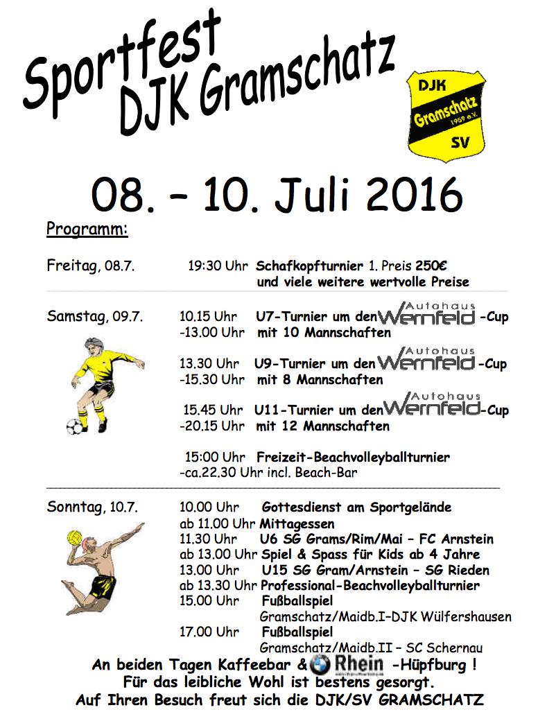 09.07.2016 Turnier bei der DJK Gramschatz