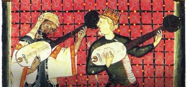 Fragmento de miniatura Cantiga 120, del Libro de Las Cantigas de Santa María, s.XIII.
