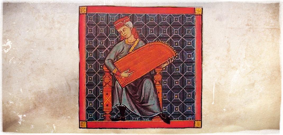 """Salterio de la cantiga nº 290. """"Cantigas de Santa María, s.XIII."""