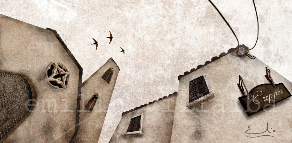 Al llegar a Hamelin, la flautista se encuentra unas calles desiertas y tristes. La roseta que he dibujado en la iglesia, es la que tengo en mi laúd medieval.