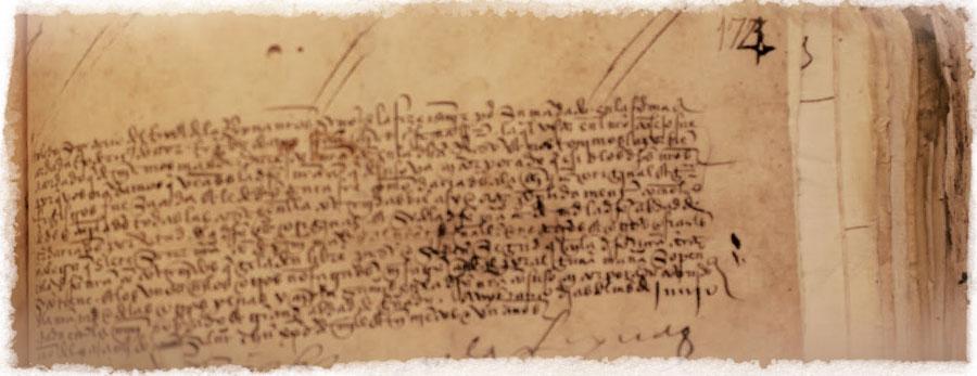 Carta de los Reyes Católicos sobre la quema de libros en 1502.