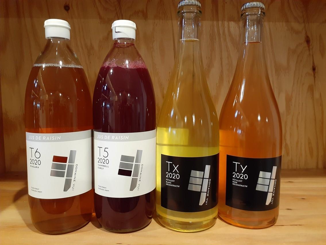 余市町からドメーヌ・ユイさんのワイン2種とブドウジュース2種入荷です!