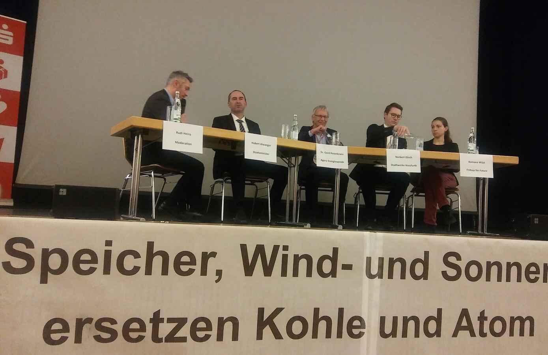 Podiumsdiskussion am 7.2.2020 zum Solarausbau und Klimaschutz in Bayern