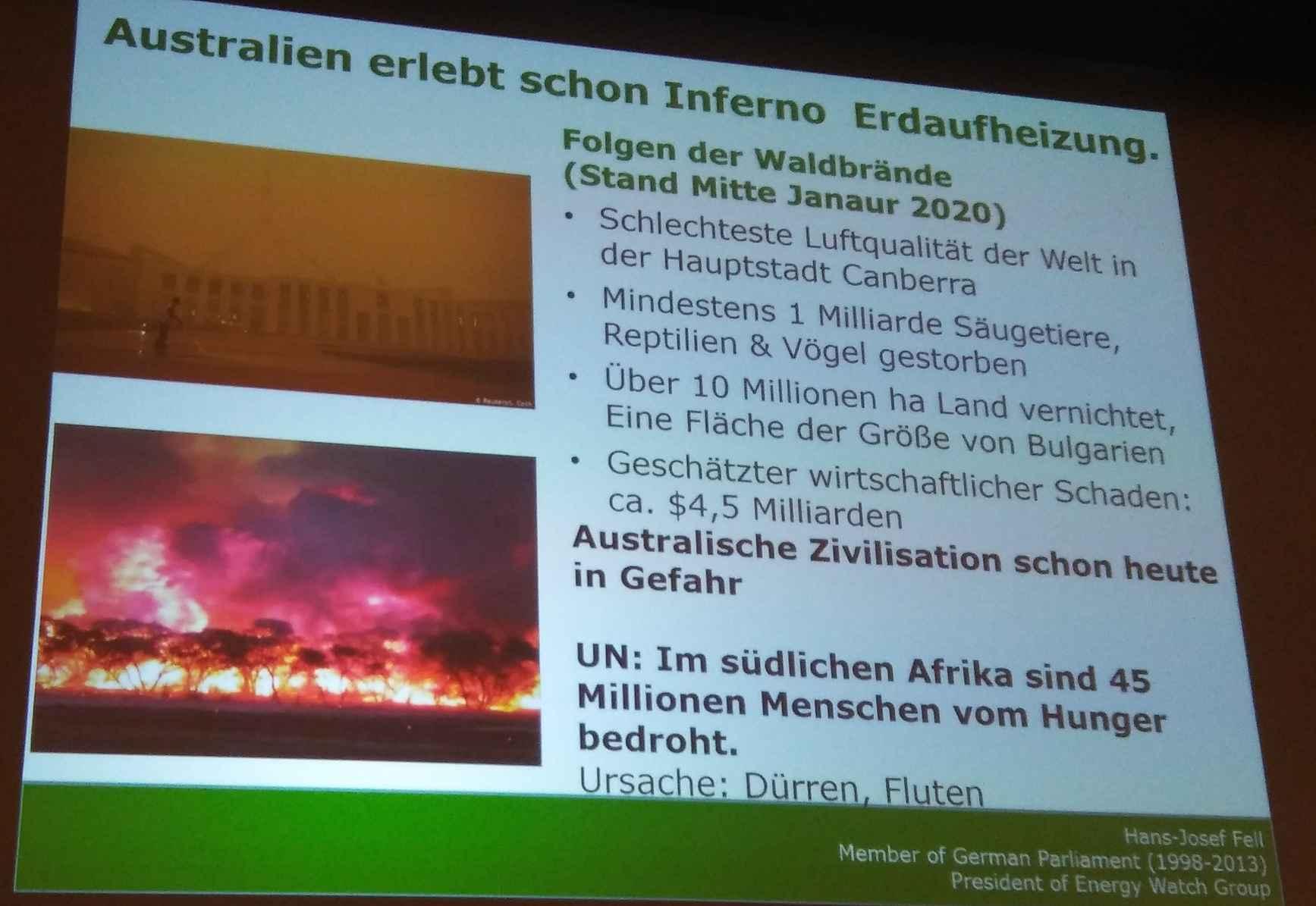 Anzeichen der Klimakrise ... Brände, Stürme, Überschwemmungen, Kriege .... Flüchtlinge ...