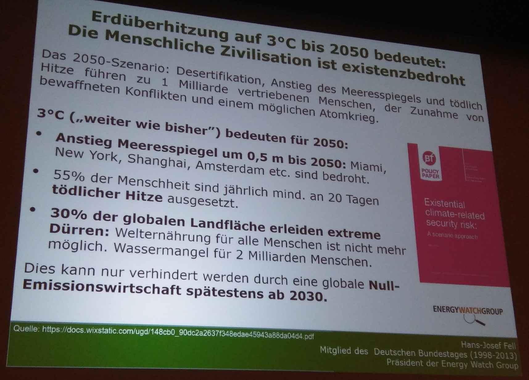 """KEINE """"Klimahysterie"""" ... Die menschliche Zivilisation ist ernsthaft bedroht"""