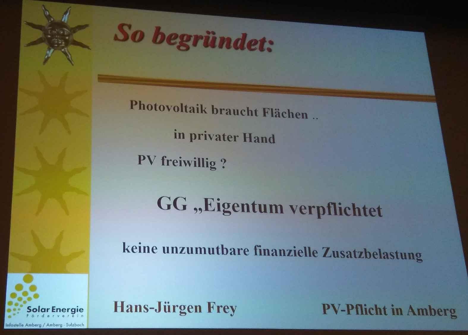 Was in Amberg geht, kann auch in den anderen ca. 2.200 Bayerischen Kommunen realisiert werden.