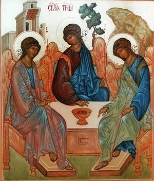 Святая Троица (аналойная). Храмовая икона.