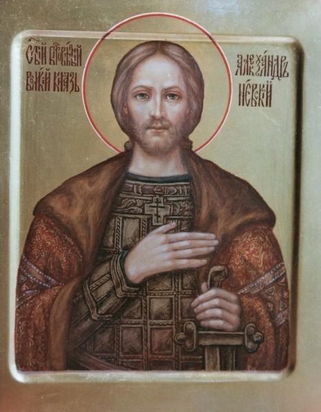 Святой благоверный князь Александр Невский. Именная икона.