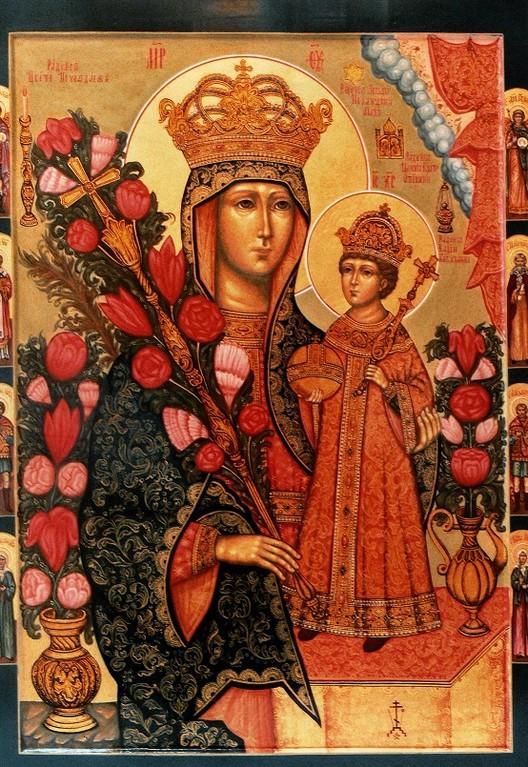 Образ Пресвятой Богородицы Неувядаемый цвет. Семейная икона.