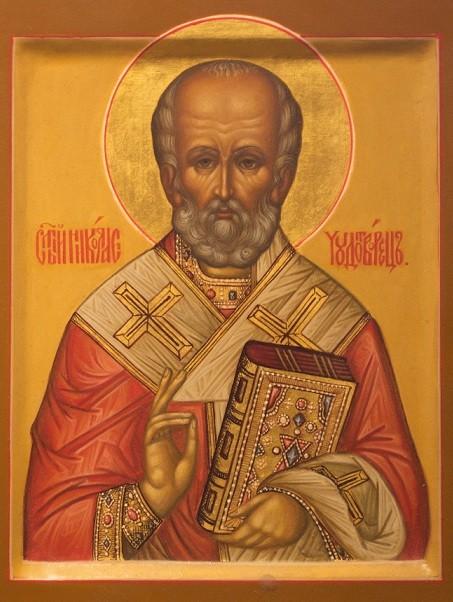 Образ святого Николая Чудотворца. Домашняя икона.