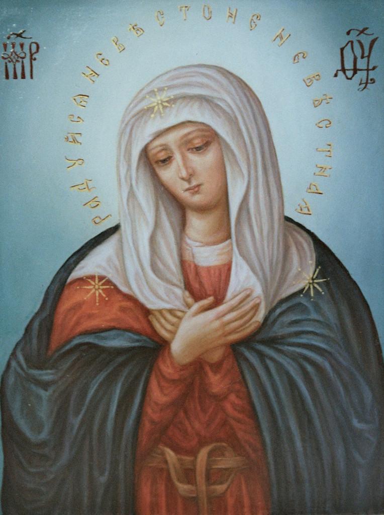 Образ пресвятой Богородицы Умиление. Именная икона.