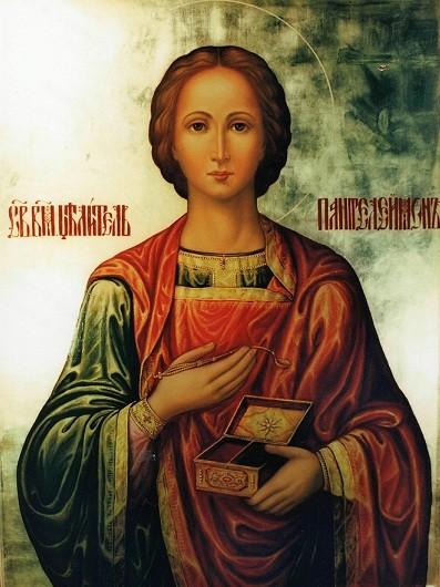 Святой великомученик целитель Пантелеймон. Храмовая икона.