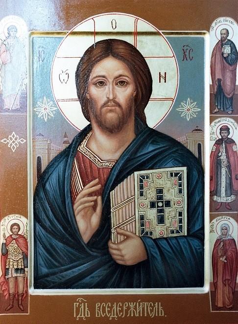 Образ Иисуса Христа Господь Вседержитель.Семейная икона.