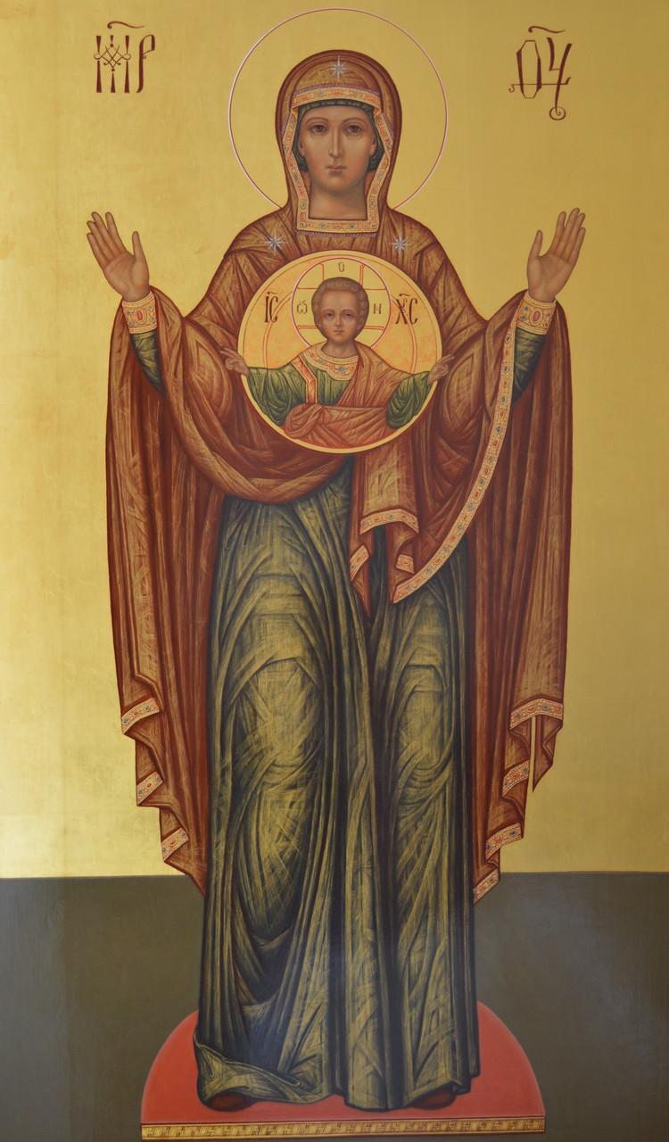 Образ Пресвятой Богородицы Знамение. Храмова икона.