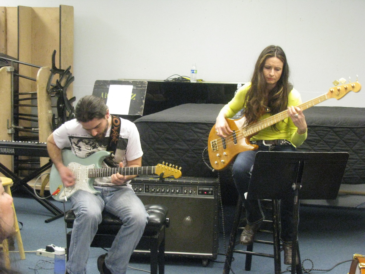 Matt Heulitt(L) and Angeline Saris(R)
