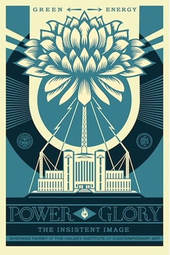 Shepard Fairey Power & Glory (Blue)