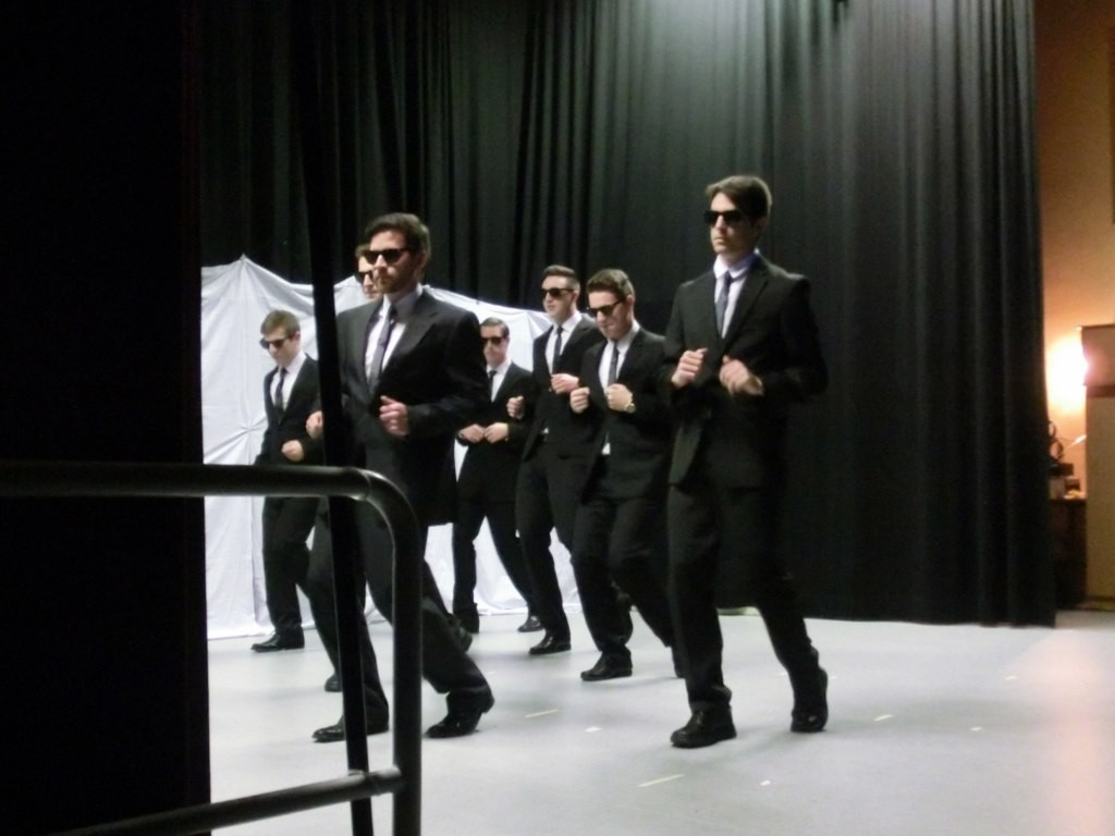 als Men in Black !