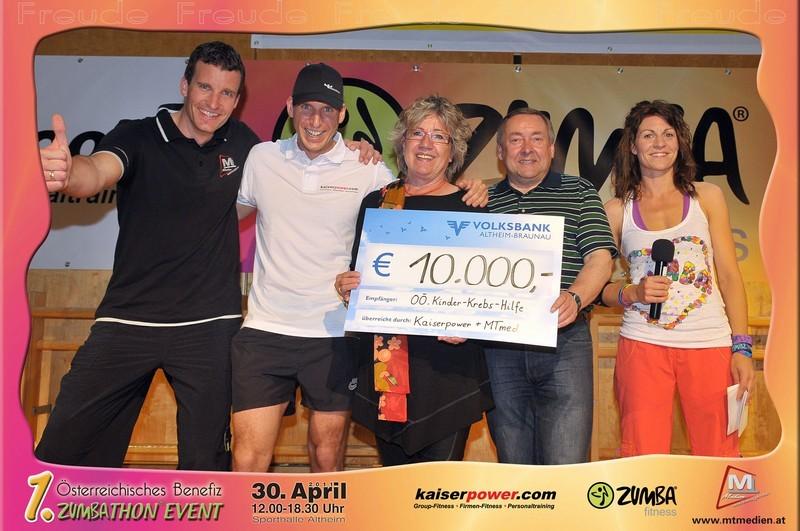 € 10.000 für Kinderkrebshilfe