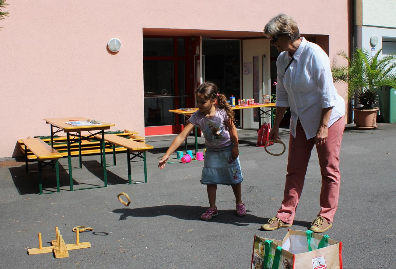 Es gab diverse Spiele für Gross und Klein.
