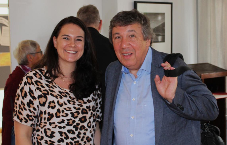 Alexandra Jehle (Geschäftsführerin und Projektbetreuerin) und Josef Biedermann (ehemaliger Stiftungsrats-Präsident vom Liechtensteinischen Entwicklungsdienst)