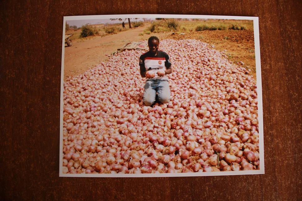 Sr. Véronique muss sich im Dorf Nyassan selbst versorgen. Dazu pflanzt sie u.a. Zwiebeln und Mais für den Eigenverbrauch, aber auch zum Verkauf, an.