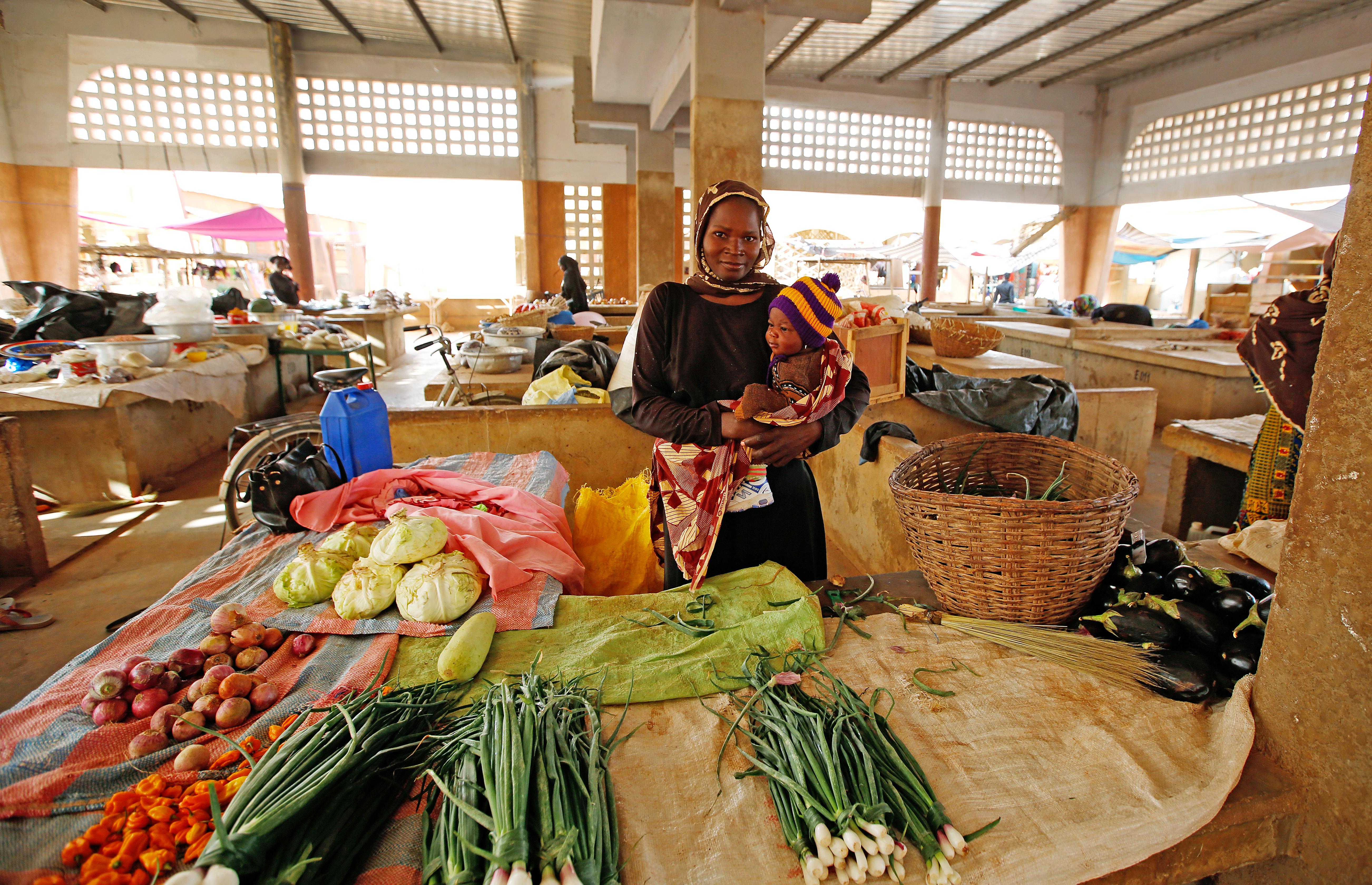 Auch die Märkte wurden von der burkinischen Regierung geschlossen.
